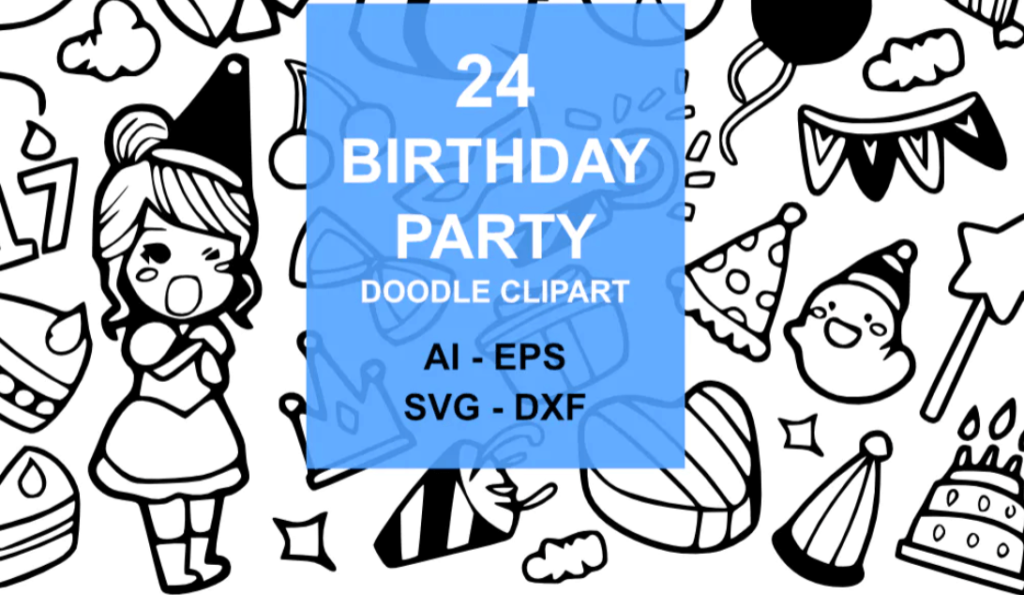 24 Birthday Party Doodles