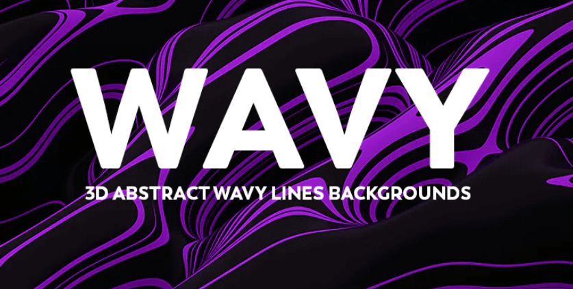 3D Abstract Wavy Lines Backgrounds