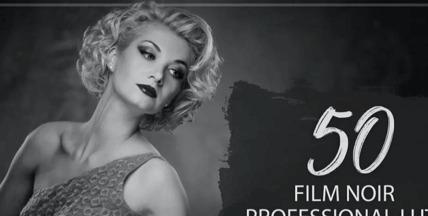 50 Film Noir LUTs Pack