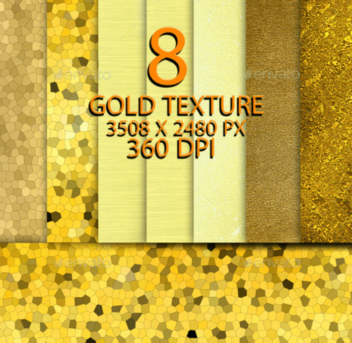 8 Gold Texture Background 090421