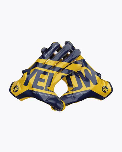 American Football Gloves mockup (Crossed) (1)