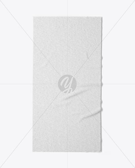 Beach Towel Mockup - Top View (1)