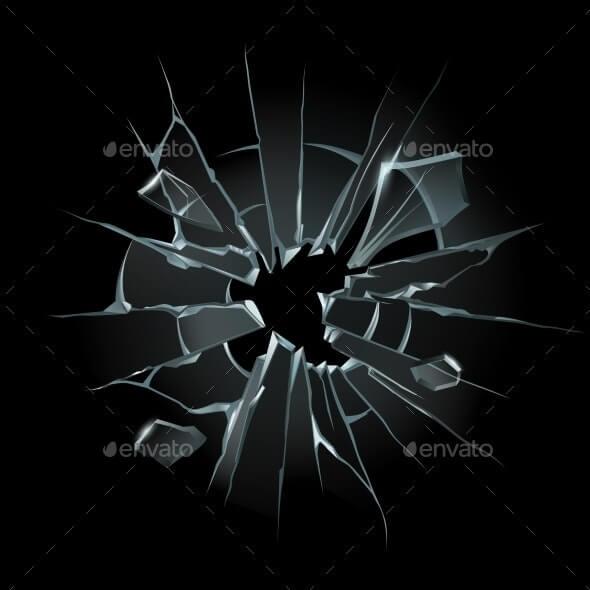 Broken Window Glass (1)