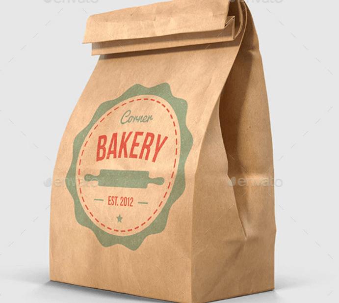 Brown Paper Lunch Bag Mockups - 3D Multi Views