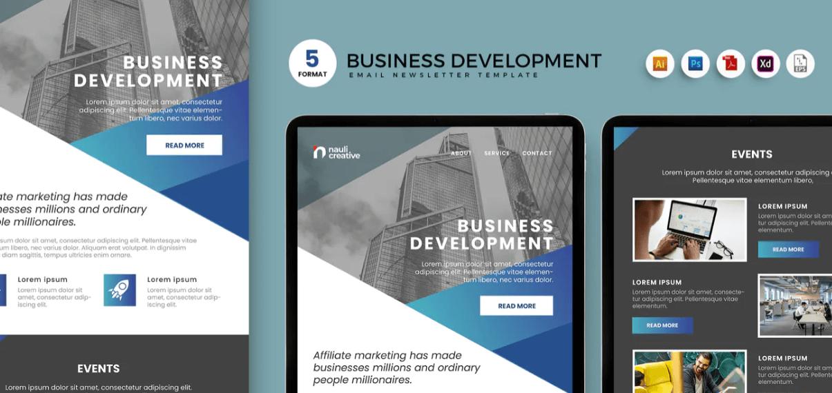 Business Development Email Enewsletter Template