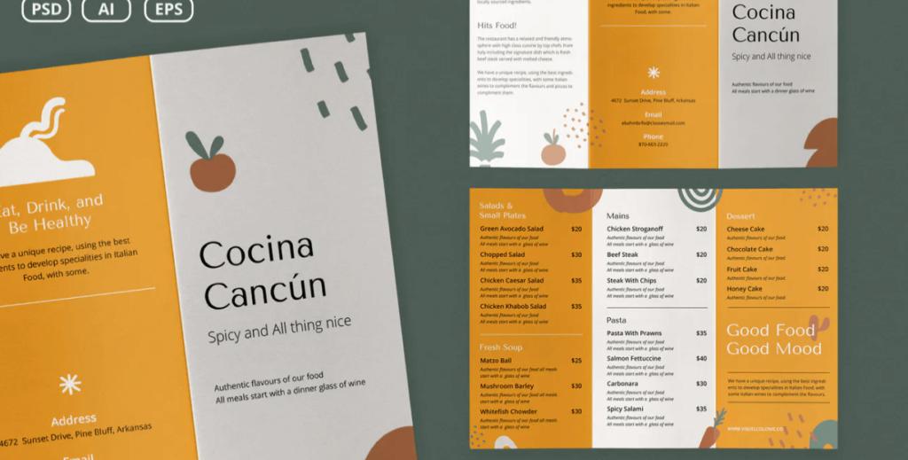 Cafe Menu Brochure Template