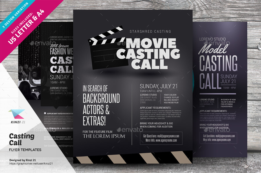 Casting Call Flyer Templates (1)