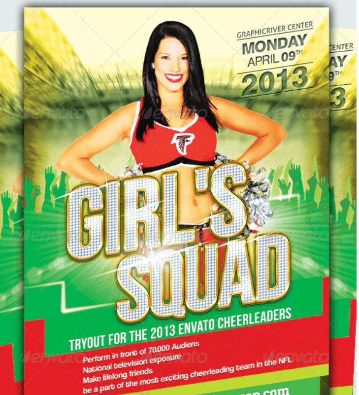 Cheerleader Tryout Flyer