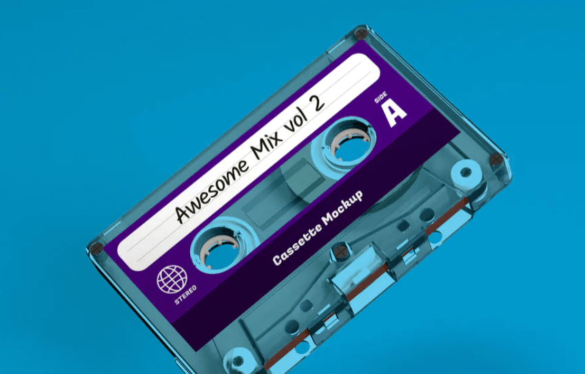 Clear Cassette Tape Mockup1