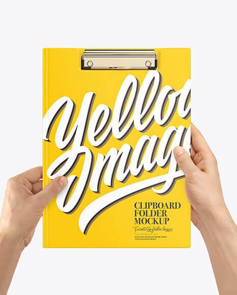 Clipboard Folder in Hands Mockup (1)
