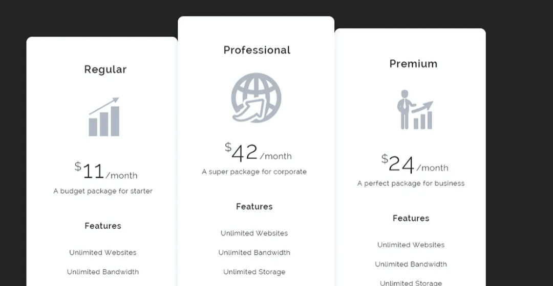 Creative Pricing Tables