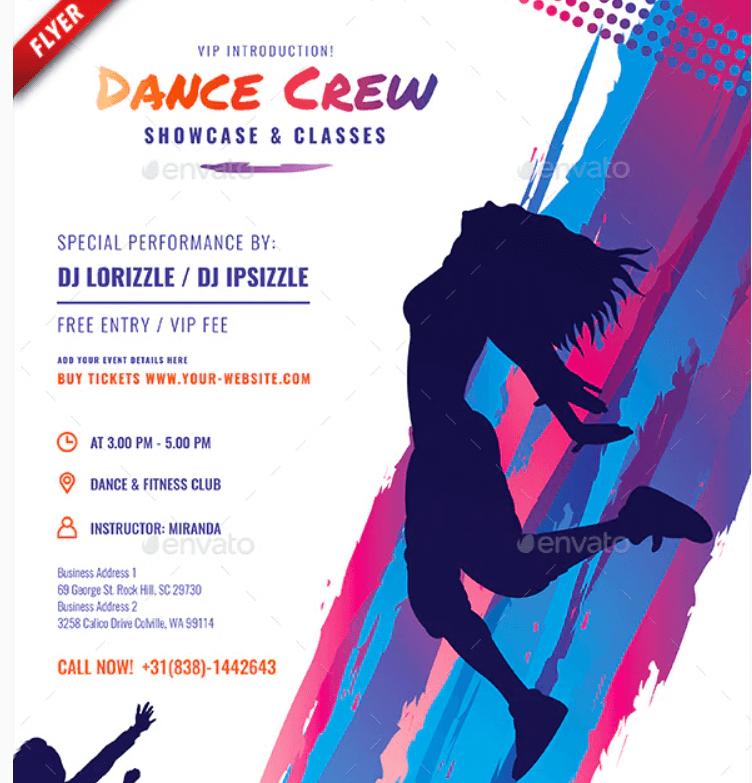 Dance Crew Business Flyer