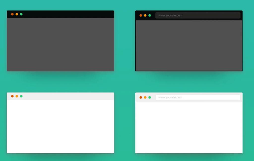 Elegant Browser Mockups