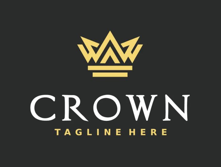 Elegant Crown Logo Design Template