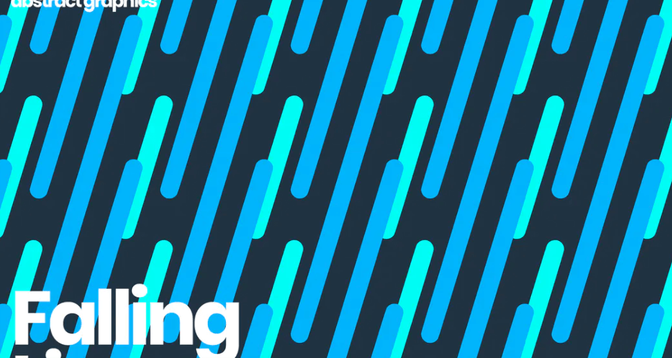 Falling Rounded Lines Background