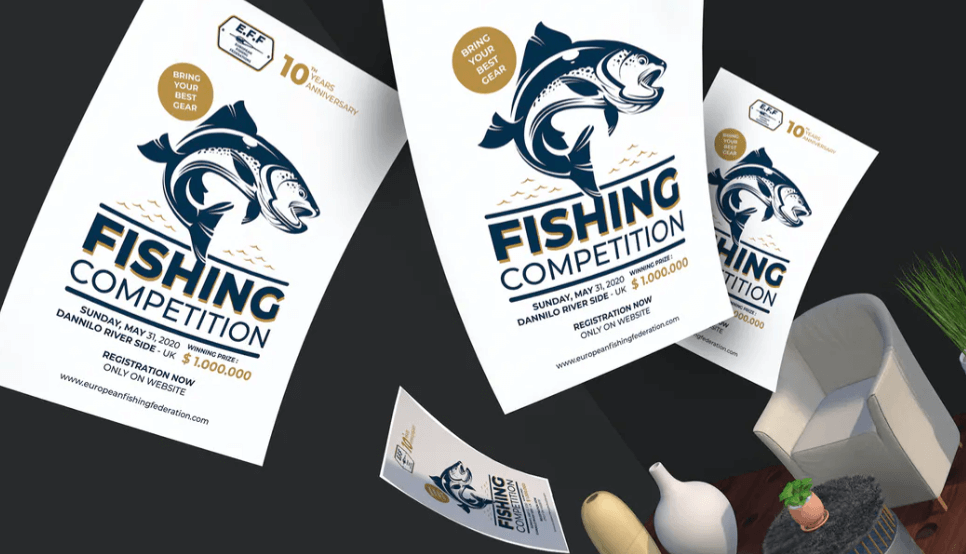Fishing Competition Flyer & Poster Template