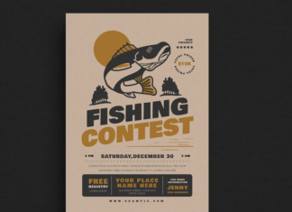 Fishing Contest Event Flyer