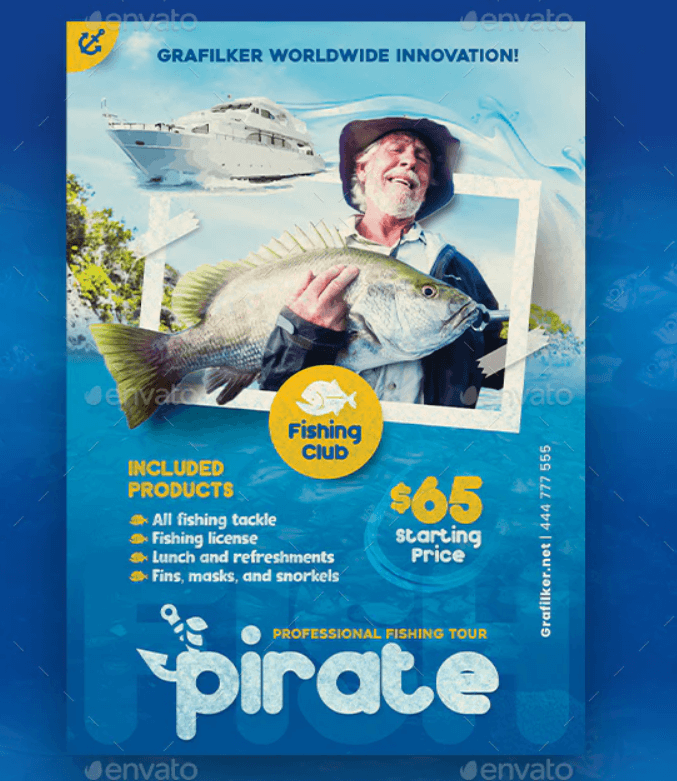 Fishing Flyer Templates