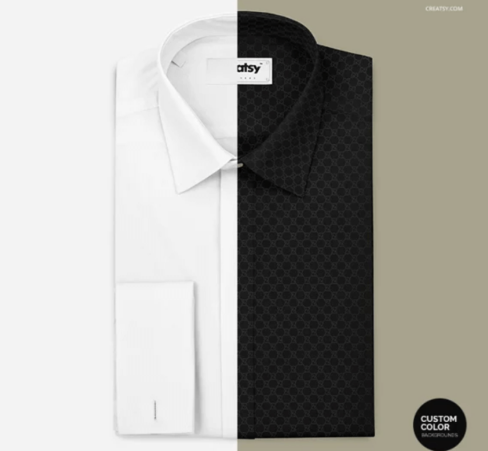 Folded Formal Dress Shirt Mockup