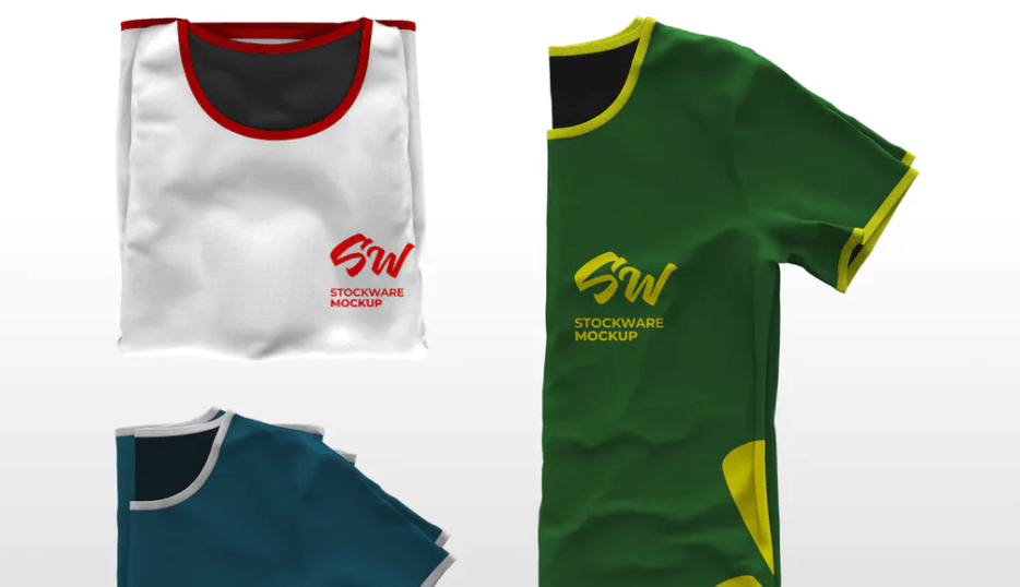 Folded T-Shirt Mockup Collection