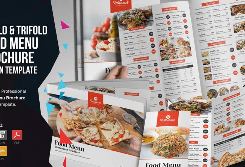Food Menu Bifold-Trifold Brochure v2