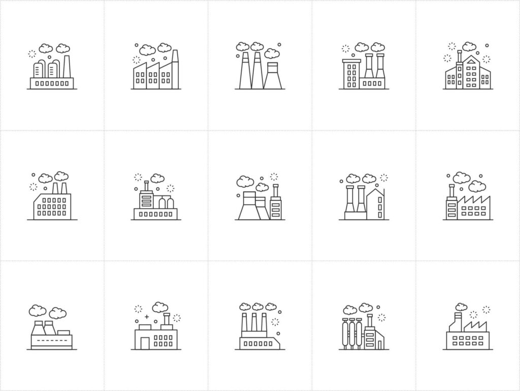 Free 15+ Vector Factory Icons (1)