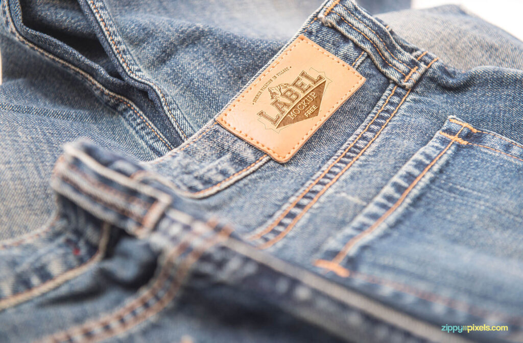 Free 2 Clothing Label Mockups PSD Templates (1)