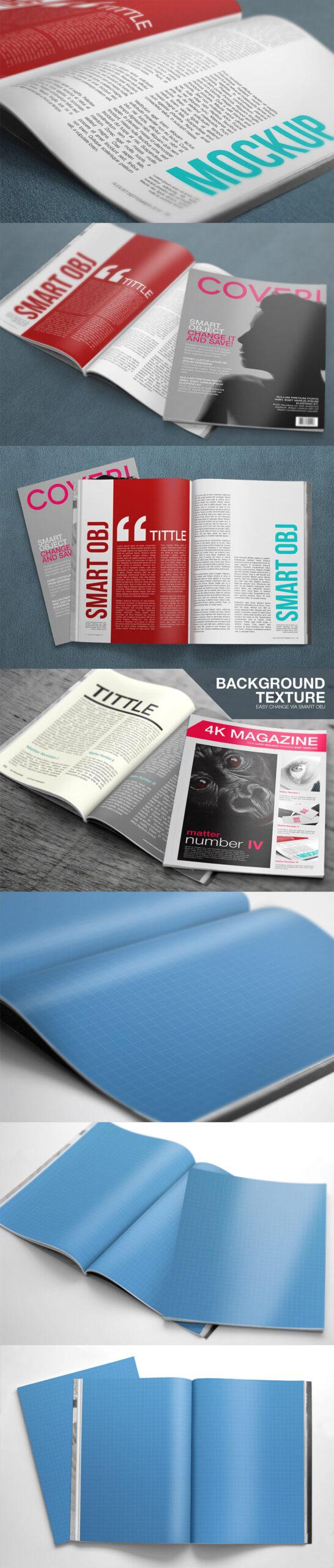 Free 4K Magazine Mockup PSD Template1 (1)