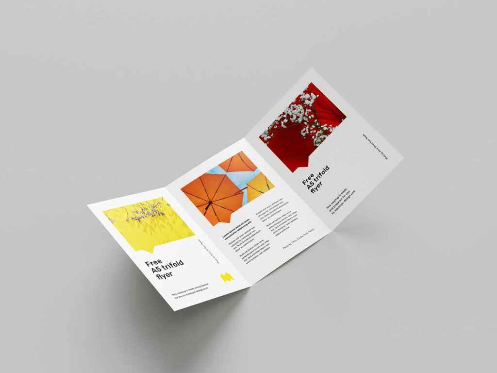 Free A5 Trifold Flyer Mockup PSD Template (1)