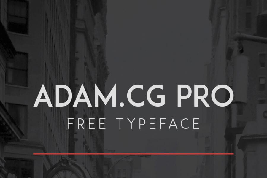 Free ADAM CG Pro Typeface (1)