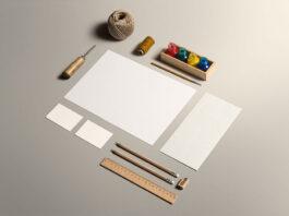 Free Art & Craft Stationery Mockup PSD Template (1)