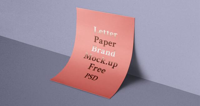 Free Beautiful A4 Paper Mockup PSD Template (1)