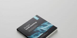 Free Black Square Book Mockup PSD Template (1)