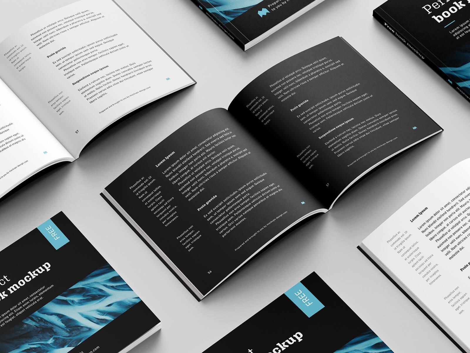Free Black Square Book Mockup PSD Template3 (1)