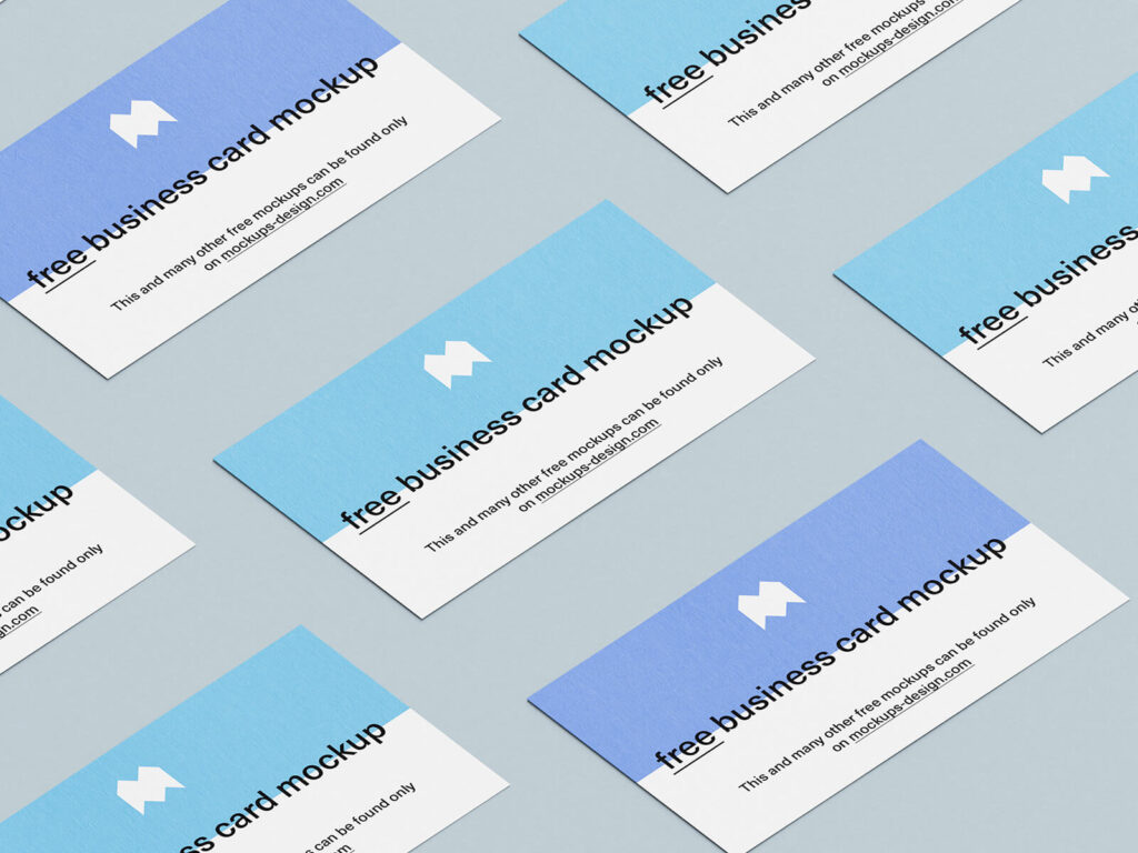 Free Blue Business Cards Mockup PSD Template2 (1)