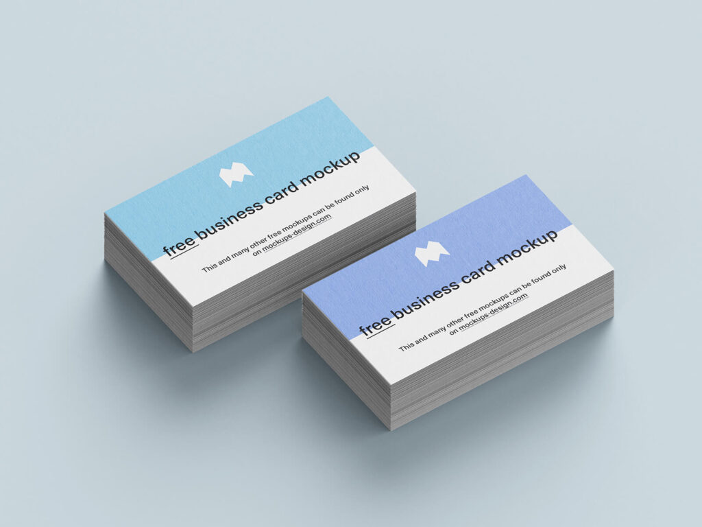 Free Blue Business Cards Mockup PSD Template3 (1)