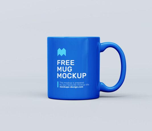 Free Blue Mug Mockup PSD Template (1)