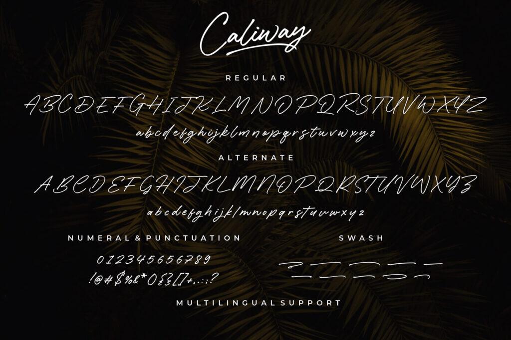 Free Caliway Casual Handwritten Font3 (1)