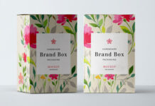 Free Cardboard Packaging Mockup PSD Template (1)