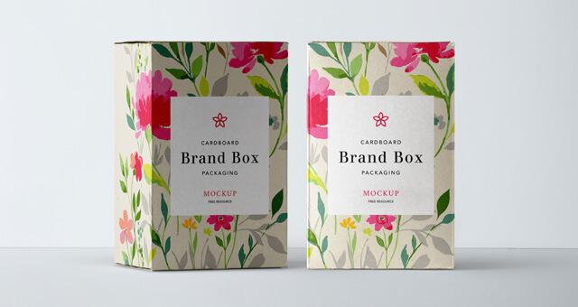 Free Cardboard Packaging Mockup PSD Template (1)