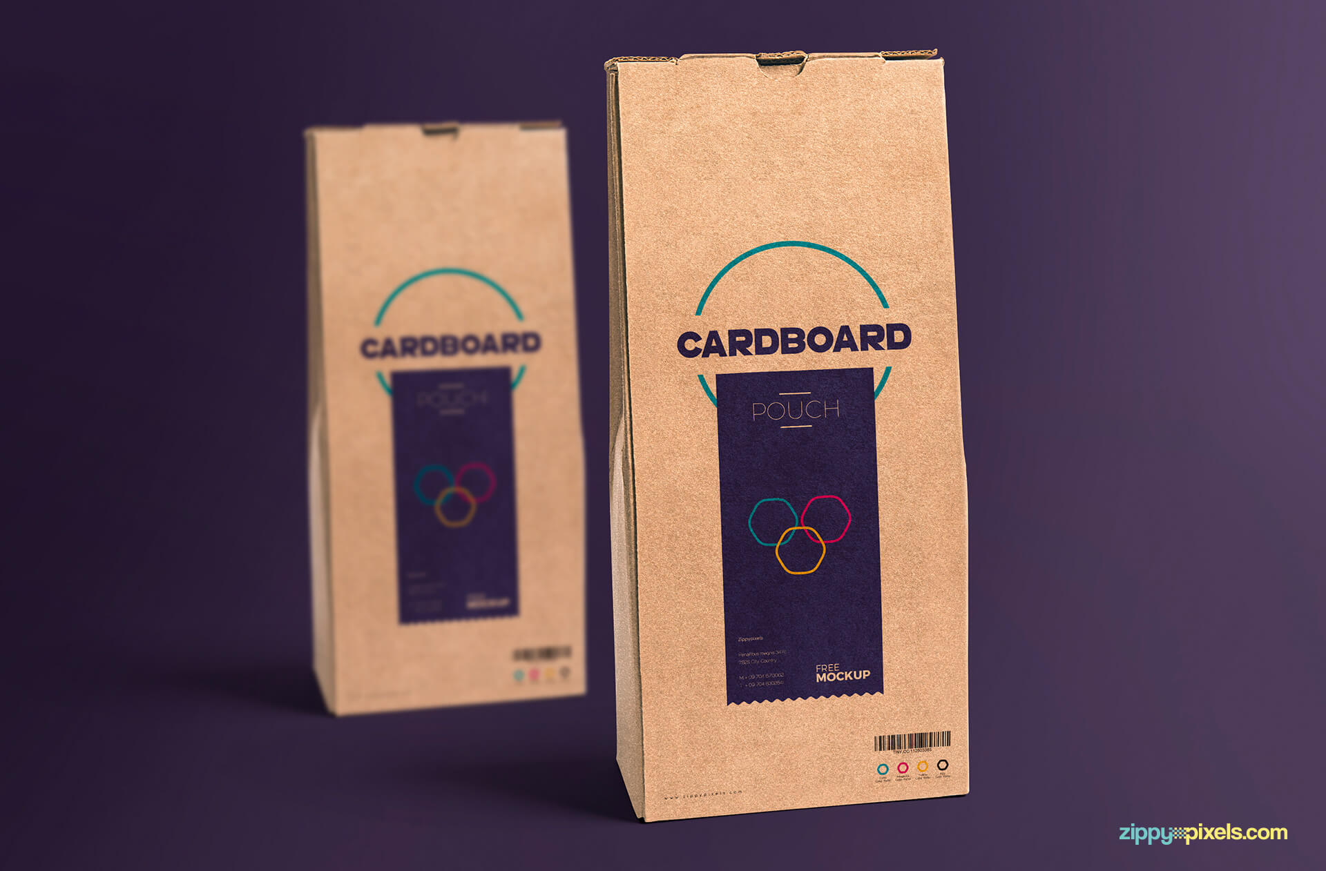 Free Cardboard Pouch Packaging Mockup PSD Template2 (1)