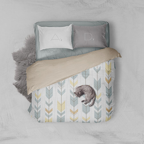 Free Comfortable Bed Linen Mockup PSD Template1 (1)