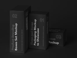 Free Complete Box Mockup Product Branding Set PSD Template (1)