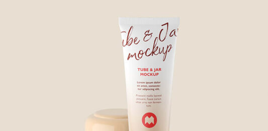 Free Cosmetic Tube And Jar Mockup PSD Template (1)
