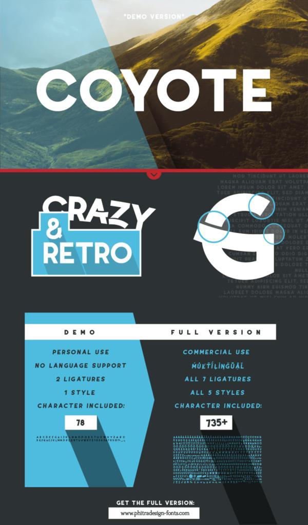 Free Coyote Retro Font Demo (1)