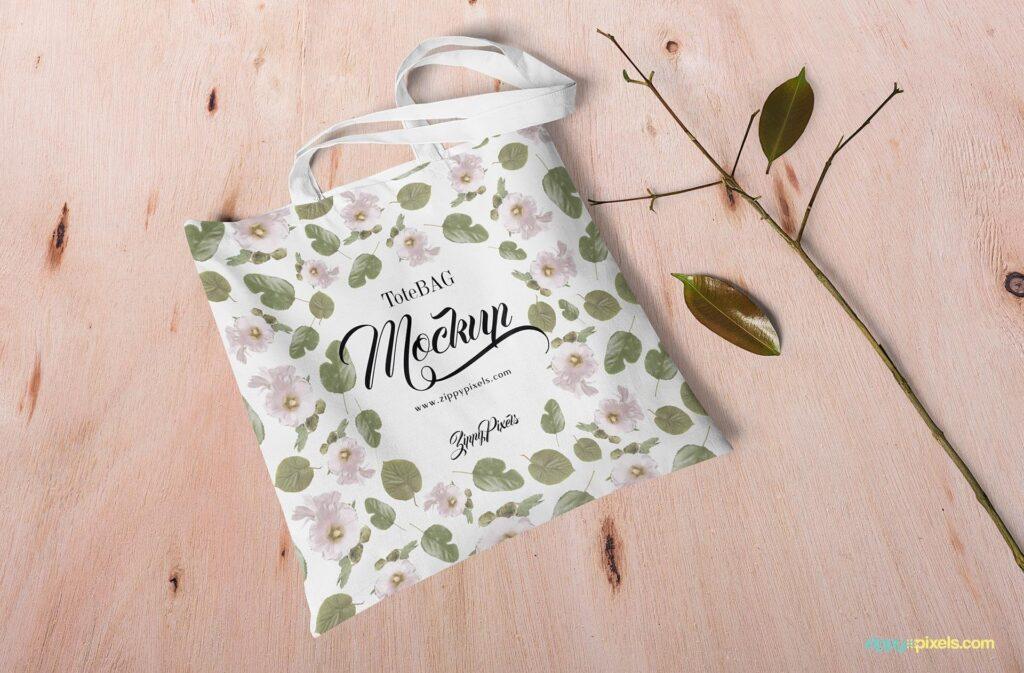 Free Customizable Canvas Bag Mockup PSD Template (1)