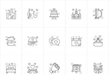Free Cute Wedding Vector Icons (1)