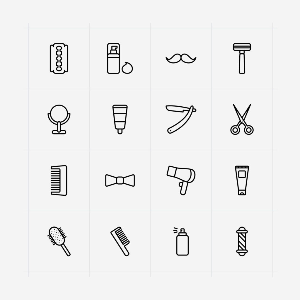 Free Designable Barber Vector Icons (1)