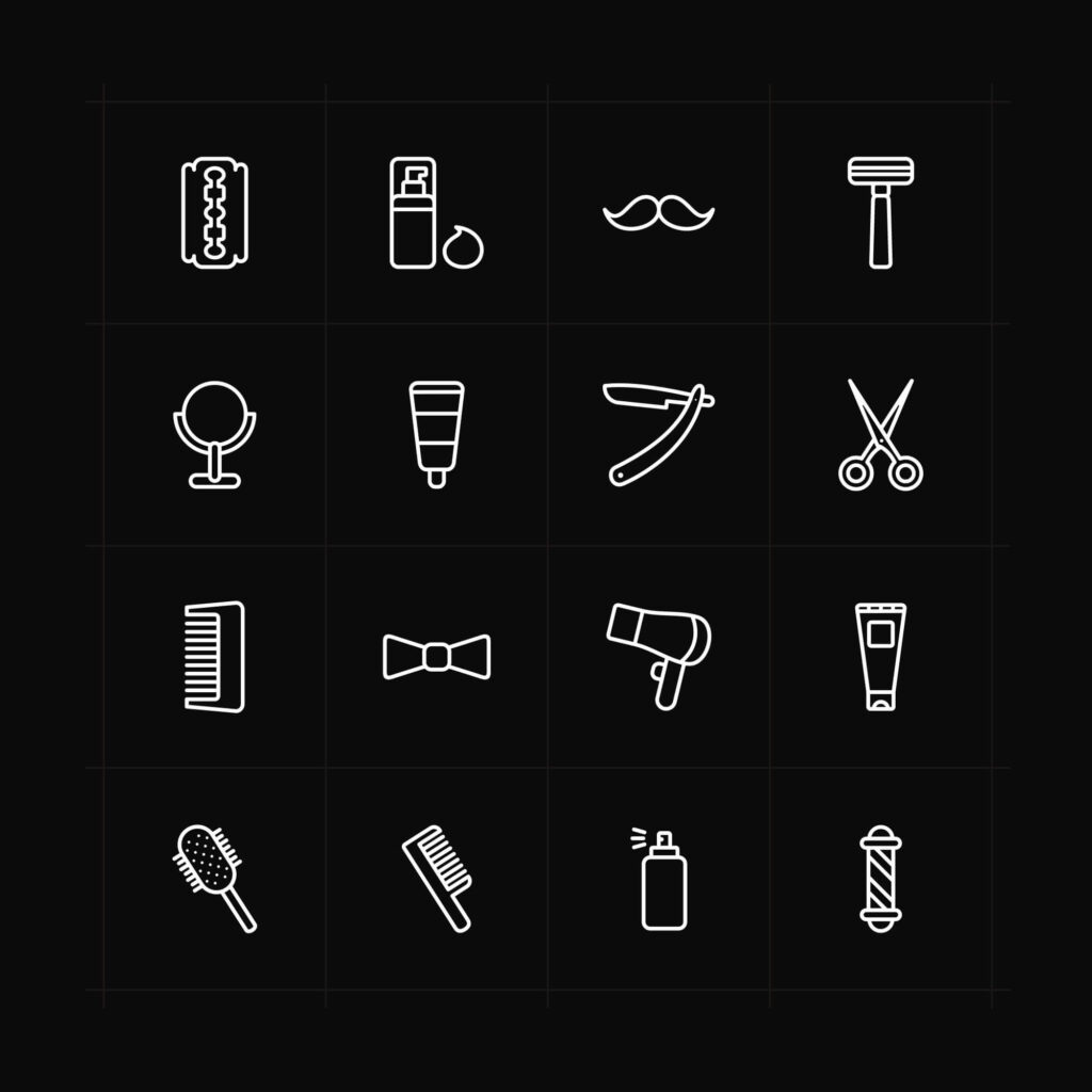 Free Designable Barber Vector Icons1 (1)