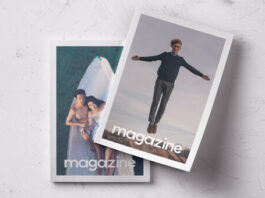 Free Double Overhead Magazine Mockup PSD Template (1)